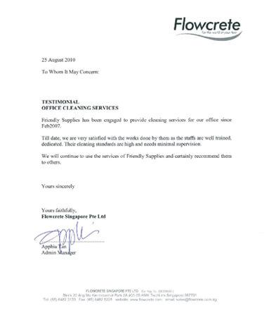 Testimonial from Flowcrete